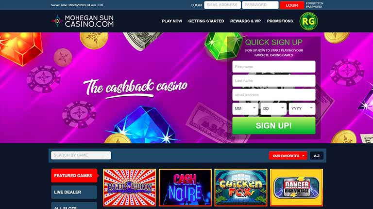 mohegan sun casino review